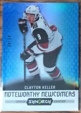 2017-18 CLAYTON KELLER UD SYNERGY NOTEWORTHY NEWCOMERS BLUE #NN-10 COYOTES #8/14