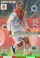 ANTHONY MARTIAL FRANCE AS.MONACO LIMITED EDITION RARE CARD ADRENALYN 2016 PANINI