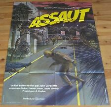 ASSAULT ON PRECINCT 13 ORIGINAL POSTER JOHN CARPENTER