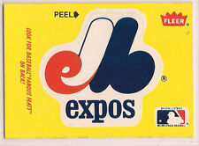1986 Fleer Montreal Expos Sticker