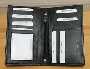 Golunski Leather Mens Notecase Suit Wallet * Slim Long * Black or Brown