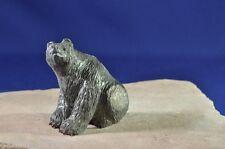 """Zuni Black Bear by Master Fred Bowannie 1 5/8"""" x 1 7/8"""""""