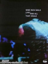 Nine Inch Nails NIN 2002 All That Could Have Been Live Original Promo Poster