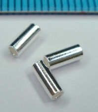 50x STERLING SILVER ROUND TUBE HEISHI BEAD 2mm 5mm SPACER #1298