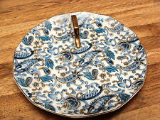 """LEFTON PORCELAIN PAISLEY 6 1/4"""" PLATE WITH HANDLE IN GOLD"""