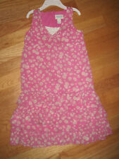 Girl TCP WHITE FLOWERS FLORAL PINK RUFFLES DRESS GUC 5 Spring Summer