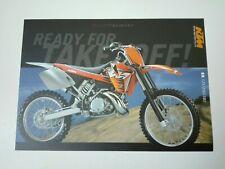 Prospectus Catalogue Brochure Moto KTM SX 125/250/380 1999 English