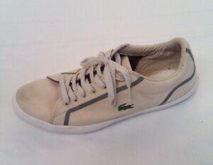 Men's Lacoste Lerond Trainers / Plimsolls UK Size 10 (Good Condition)