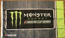 Nascar Grey Monster Energy Flag 3x5 Cup Logo Banner Racing