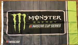 Nascar Grey Monster Energy Flag 3x5 Cup Logo Banner Racing