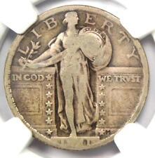 1921 Standing Liberty Quarter 25C Coin - Certified NGC VG8 - Rare Key Date!