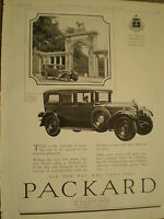 Packard Motor car advert 1928 ref Y2