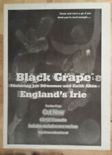 Black Grape England's irie  1996 press advert Full page 27 x 38 cm mini poster