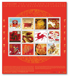 Canada 2021 Chinese Lunar New Year Cycle Stamps Panel MNH