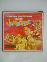 Vintage Vinyl 33rpm 3 Record Album Set Country And Western Music Jamboree 1963