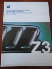 BMW Z3 Roadster accessori e colori BROCHURE 1999 ed 1 TESTO TEDESCO