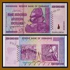 Zimbabwe 500 Million Dollars, 2008 P-82 Replacement (ZA0012816) Unc