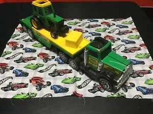 1983 Buddy L Tractor Trailer Battery Operated With Farm Tractor Large Piece