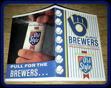 1988 MILWAUKEE BREWER OLD STYLE BEER POCKET SCHEDULE EX+NM CONDITION