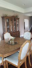 7 Piece large excellent used Dining Table Set - Brown