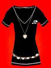 S.OLIVER SHIRT ROcKaBillY GOTHIC ROMANTIK BOHO SCHWARZ S 36 NEU !!! TOP !!!