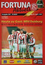 Programm 1996/97 Fortuna Düsseldorf - MSV Duisburg