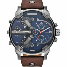 Diesel Men's DZ7314 Mr Daddy 2.0 Stainless Steel Watch With Brown Leather Band