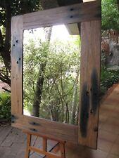 Large Wall Mirror Stunning Recycled Railway Sleeper Frame 140x111cm FREE SYD DEL