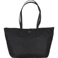 JOOP! große Damen Shopper Handtaschen Schultertaschen Nylon Schwarz mit Leder