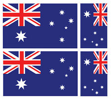 4 X AUSTRALIAN AUSTRALIA FLAG VINYL CAR VAN IPAD LAPTOP STICKER
