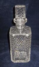 Waterford Giftware, Vertical Lines, Diamond Cut, Crystal Square Decanter
