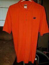 Caterpiller Polo Shirt Size LG -Orange-