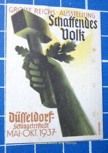 Cinderella Stamp - Germany 1937 Schaffendes Volk Ausstellung DÜSSELDORF - c91