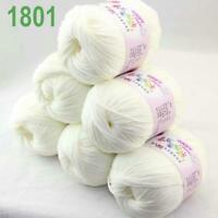 Sale lot 6 Skeins x50g Cashmere Silk Wool Children Hand Knitting Crochet Yarn 01
