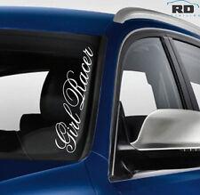 GIRL RACER Funny Car Windscreen JDM Drift DUB Euro Vinyl Decal Sticker