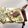 JOURNAL OF ANCIENT MAPS Colorful Illustrated Miniature Book Dollhouse 1:12 Scale