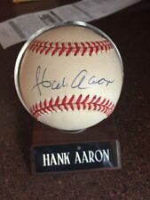 Hank Aaron Single Signed Baseball Autograph Old NL Ball