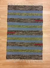 Striped Multi Reversible Handwoven Dhurrie 100% Cotton RUG 60x90cm 2'x3' 50%OFF