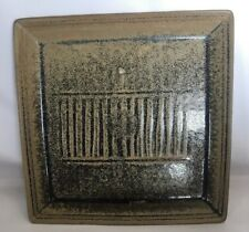 """Country Originals P Stoneware 11"""" Square Platter Serving Dish Tray Rustic Brown"""