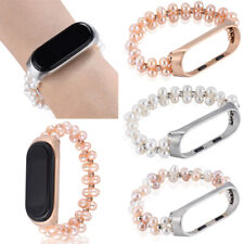 For Xiaomi Mi Band 4 Beads Smart Wrist Bracelet Stainless Steel Watch Band Strap