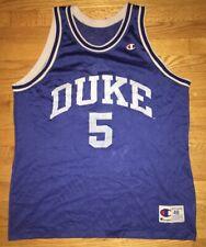 Vintage Champion Duke Jeff Capel #5 Jersey Mens Size 48 Tupac