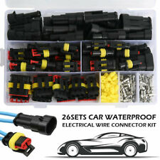 New Listing26 Sets Waterproof Car Auto Wire Connector Plug 1 4 Pin Way Electrical Plugs Kit