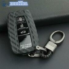 Carbon Fiber Key Fob Chain For Toyota Camry CHR Avalon RAV4 Cover Holder Case US