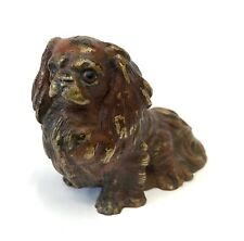 Antique Austrian Cold Painted Bronze Pekingese Dog In The Style Of Bergman