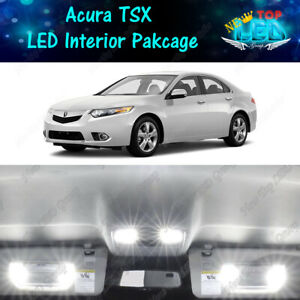 16x White LED Lights Interior Package Kit for 2009 - 2012 2013 2014 Acura TSX