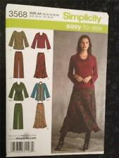 Simplicity Sewing Pattern 3568 Ladies Misses Top Pants and Skirt Size 20W-28W UC