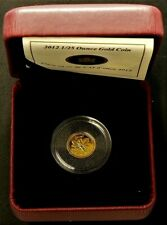 2012 Canada 1/25 Oz Farewell Penny Gold 99.99% with CoA #11890