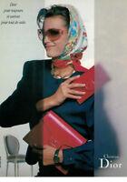 PUBLICITÉ DE PRESSE 1987 CHRISTIAN DIOR - SAC CUIR DIOR MAROQUINERIE
