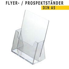 Flyerständer 10er Set Prospektständer DIN A5 gelb Aufsteller Prospekthalter NEU