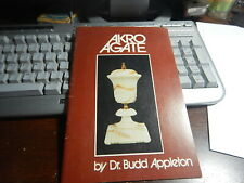 Antique Reference Book Akro Agate by Dr. Budd Appleton